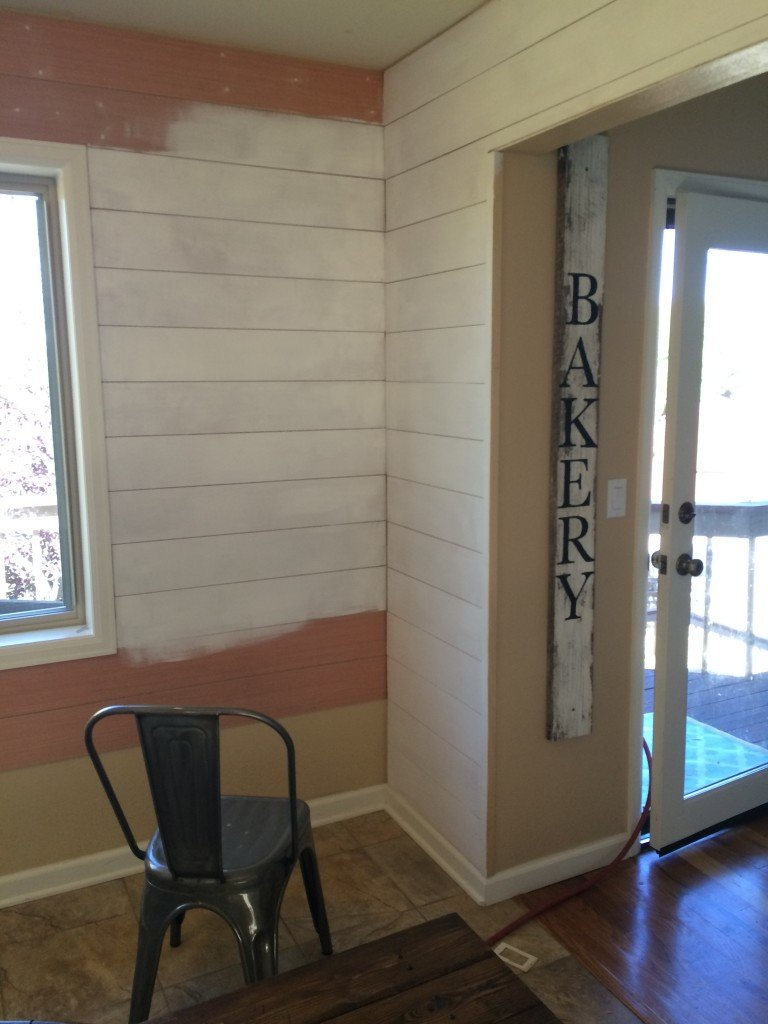 Breakfast Nook Planked Walls DIY Tutorial