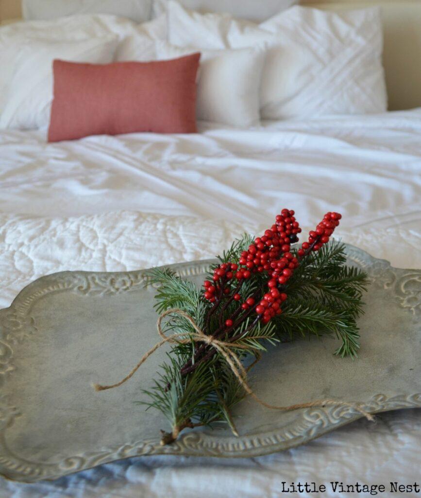 Little Vintage Nest Christmas Bedroom Decor 2