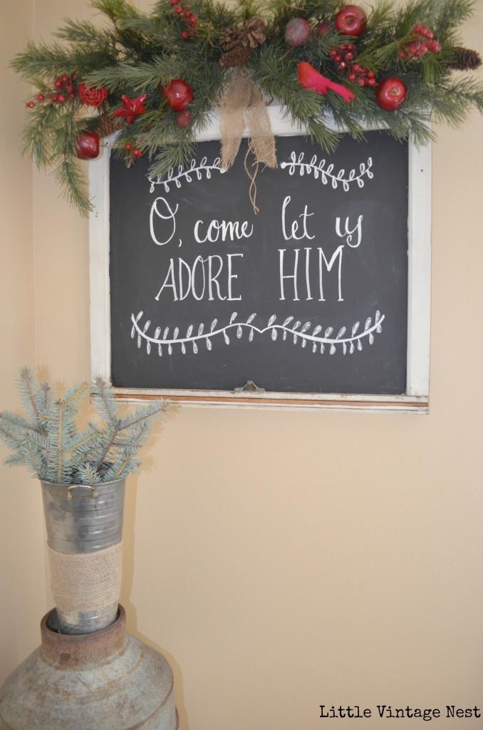 Little Vintage Nest Christmas Chalkboard