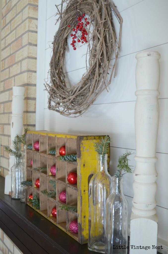 Little Vintage Nest Christmas Mantel 2