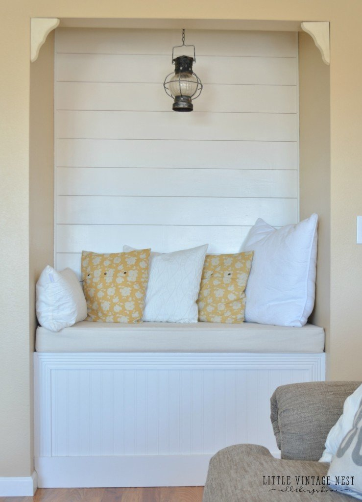 Reading Nook and Planked Walls