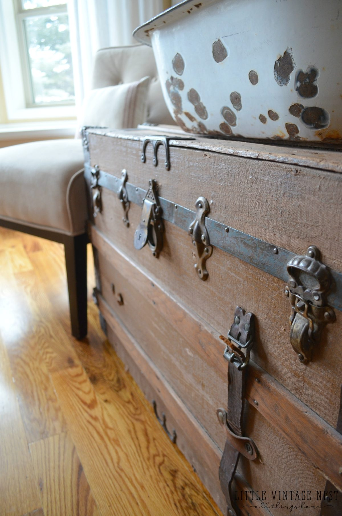Antique vintage trunk