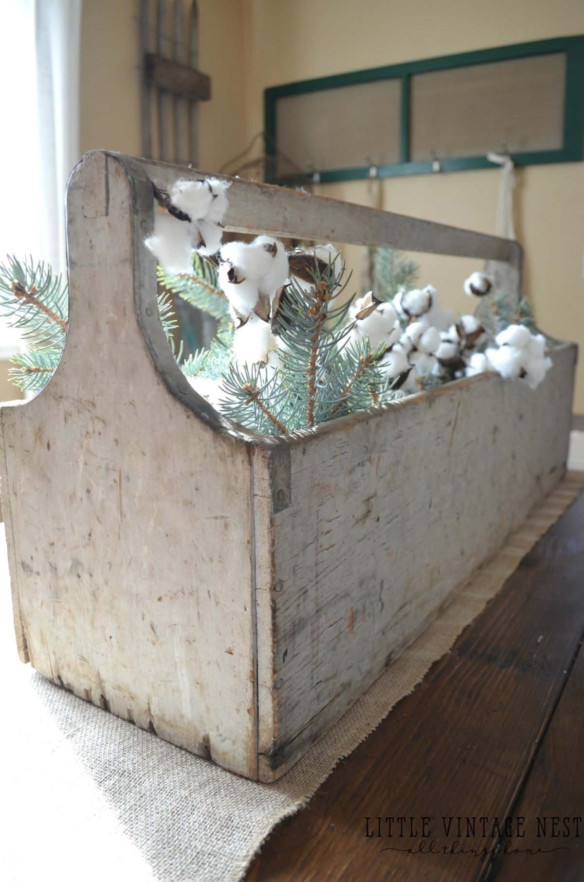 Vintage Toolbox Centerpiece