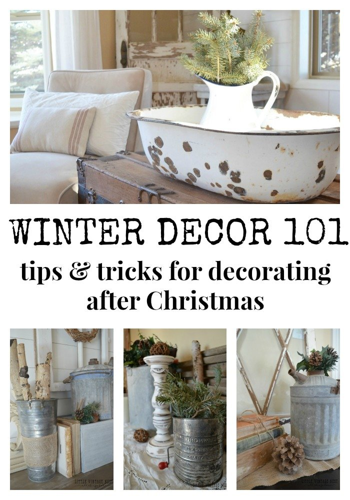 Simple Winter Decorating Tips & Tricks from Little Vintage Nest