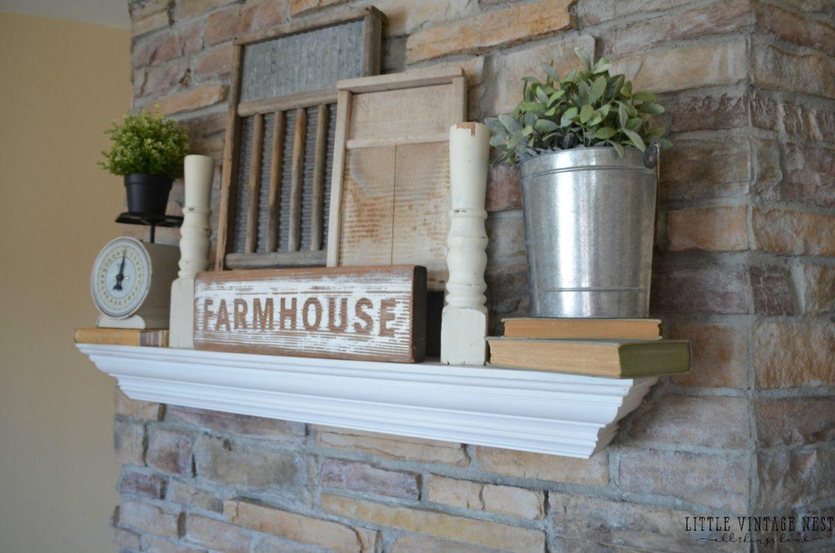Farmhouse Mantel