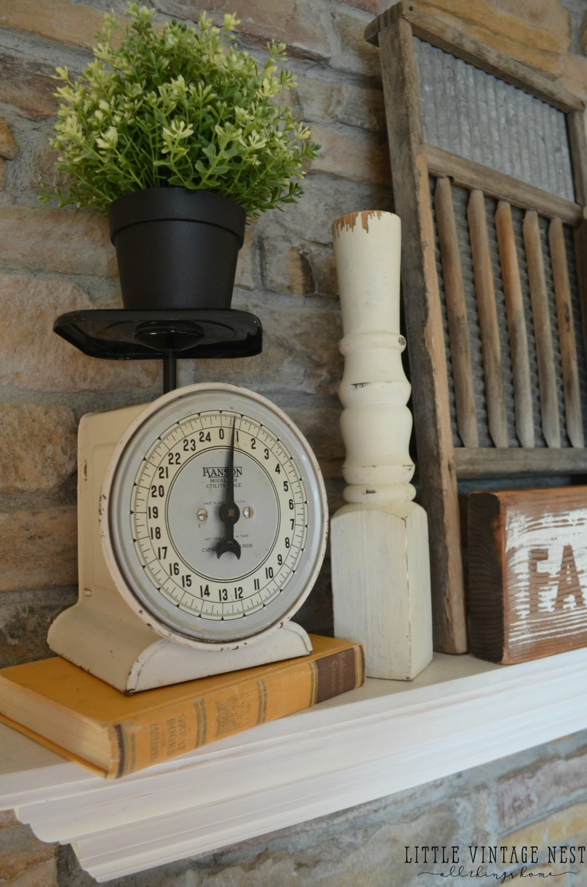 Farmhouse Mantel with Spindles