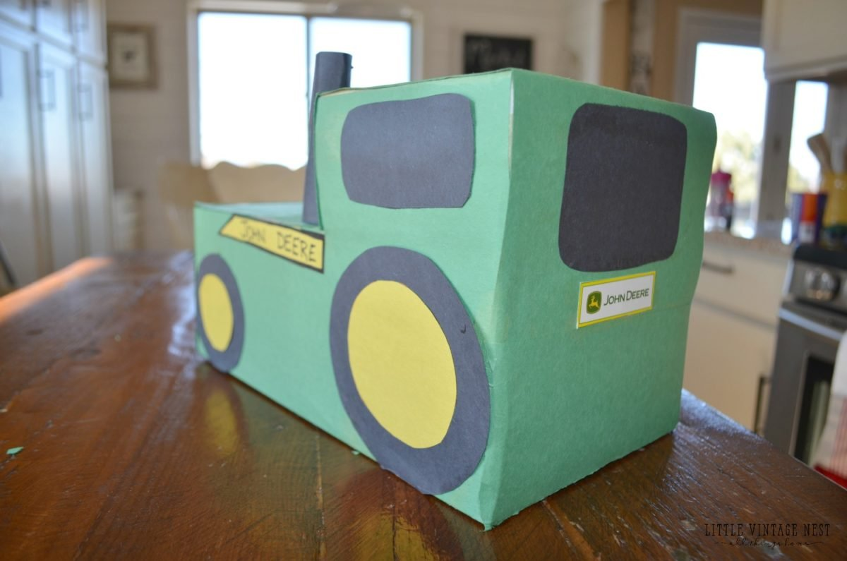 Tractor Valentine's Day Box