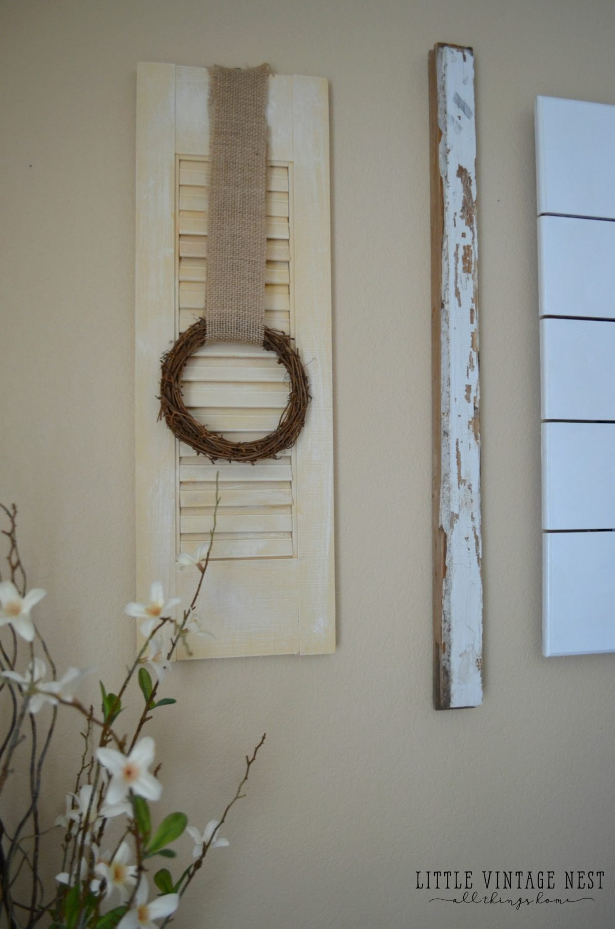 Easy Shutter Upcycle: Farmhouse Decor