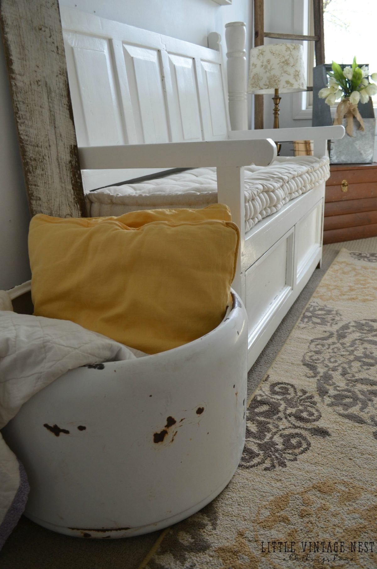 Vintage Inspired Guest Bedroom::Farmhouse Decor
