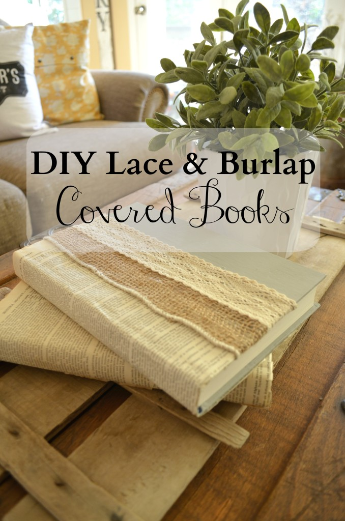 Farmhouse decor DIY with old books