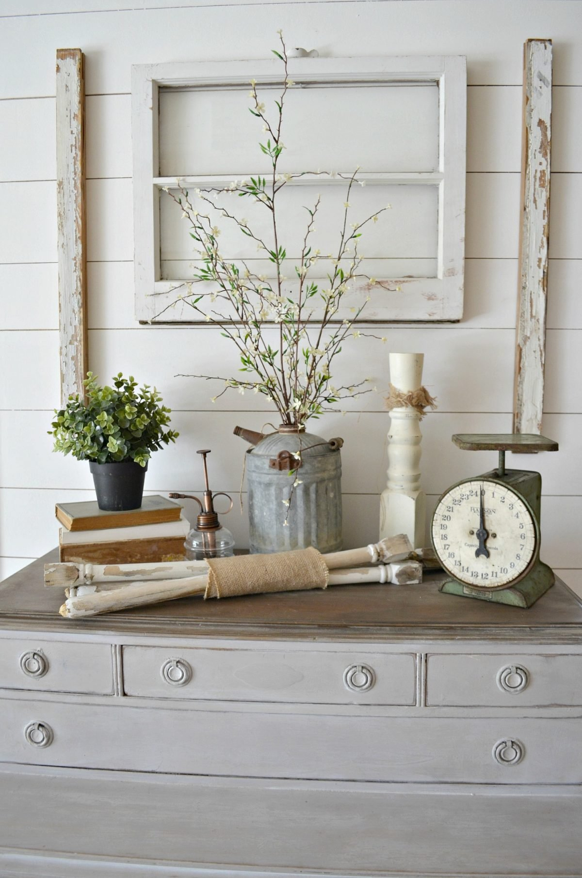Old Window Farmhouse Decor Spindles