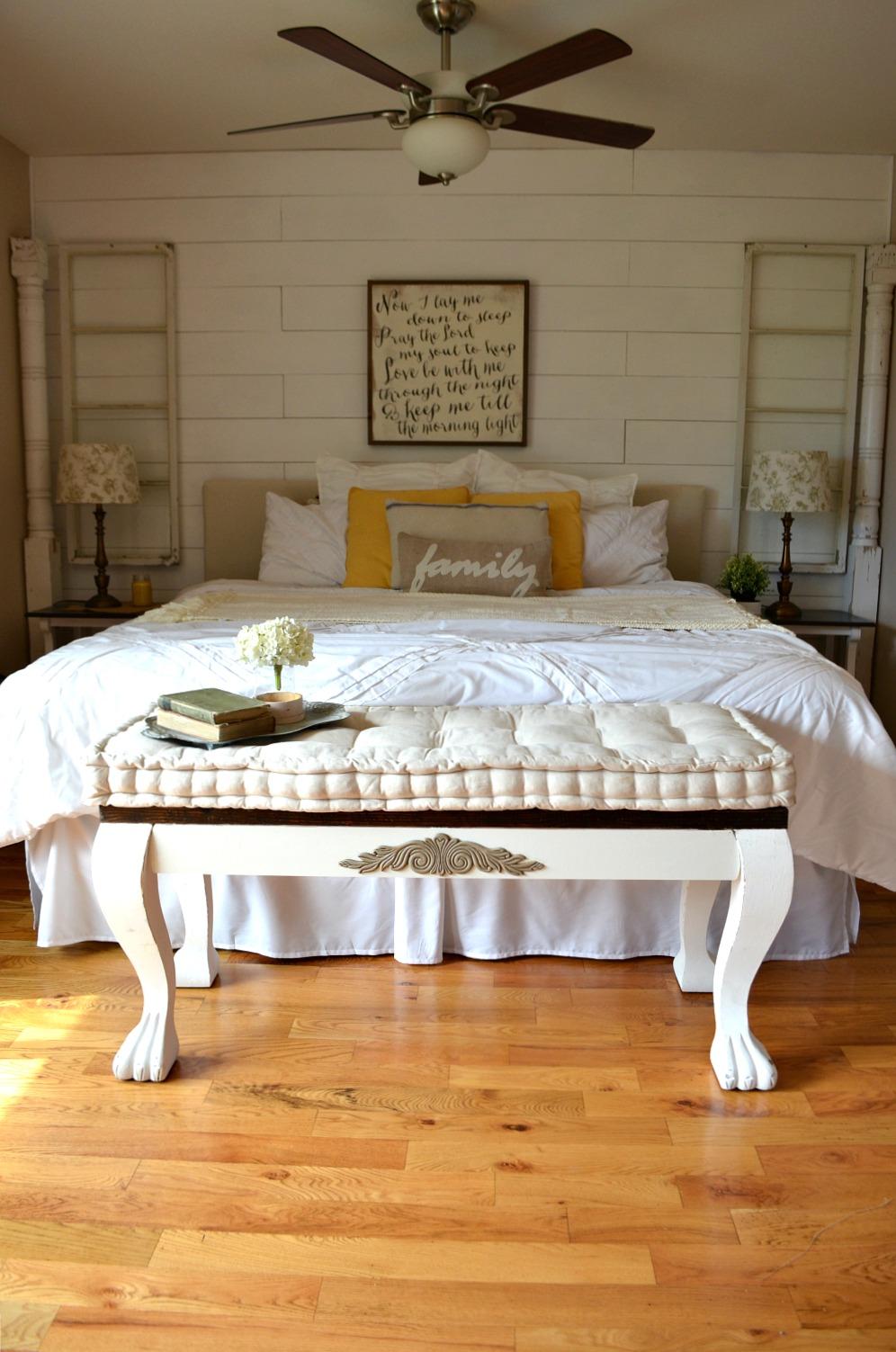 DIY Vintage Bedroom Bench 1 - Sarah Joy Blog