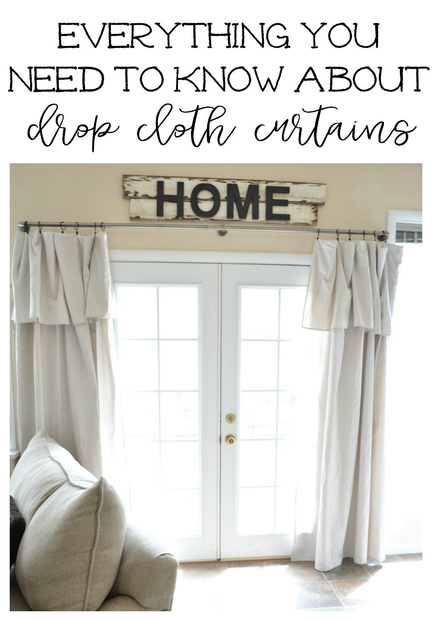 Everything You Need to Know About Drop Cloth Curtains