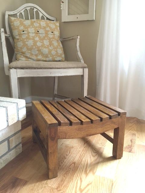 Foot stool before