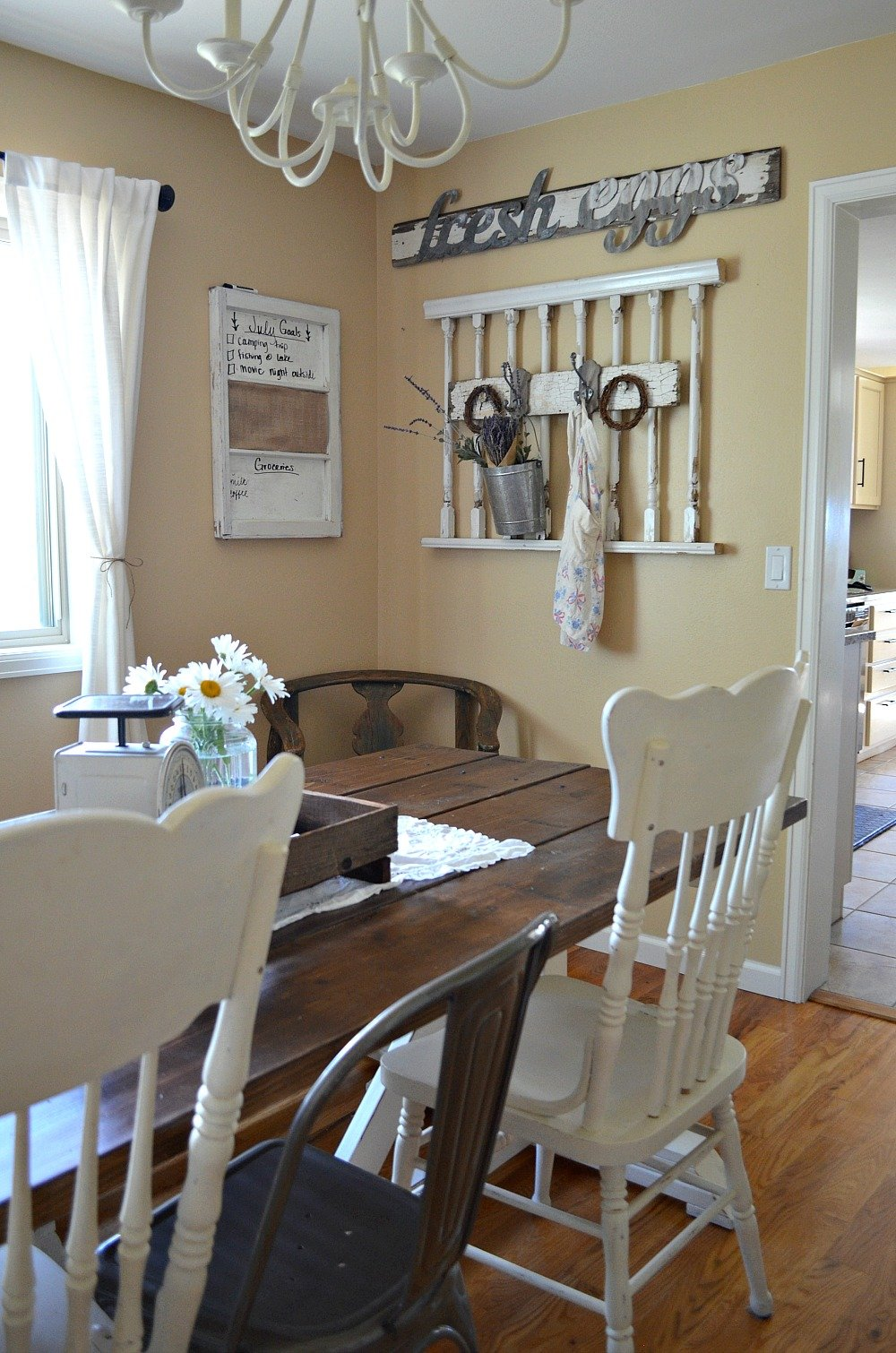 Simple Farmhouse Style Dining Room Sarah Joy Blog