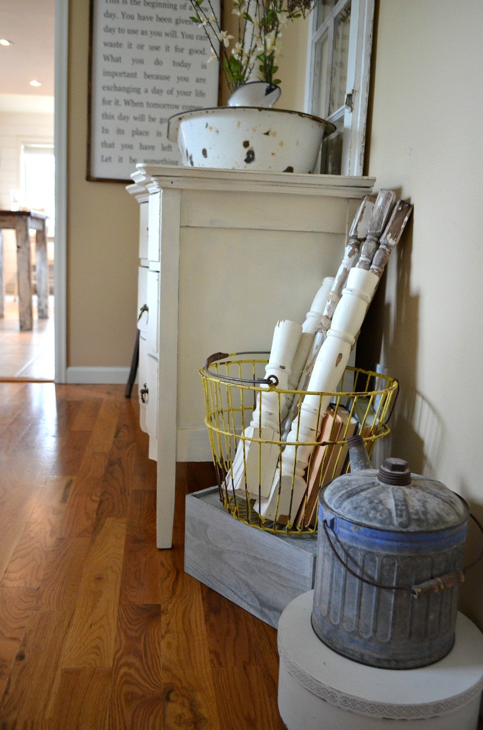 Decorating with Vintage Spindles