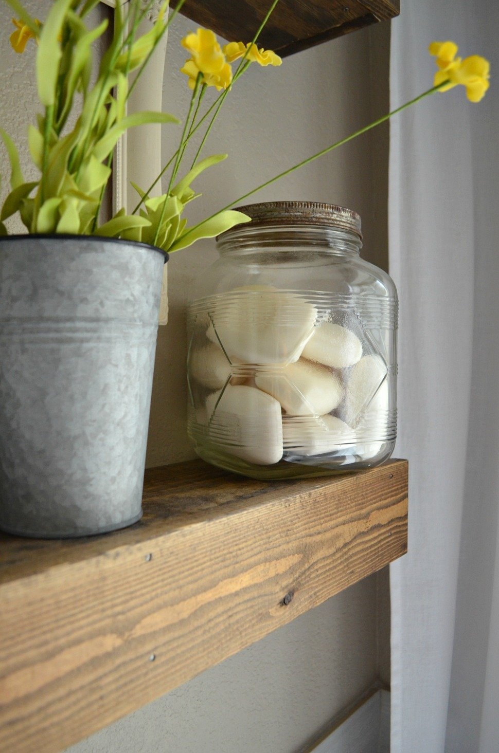 Farmhouse Bathroom Decor Vintage Jar for Soap