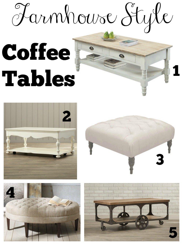 Farmhouse Style Coffee Tables Sarah Joy