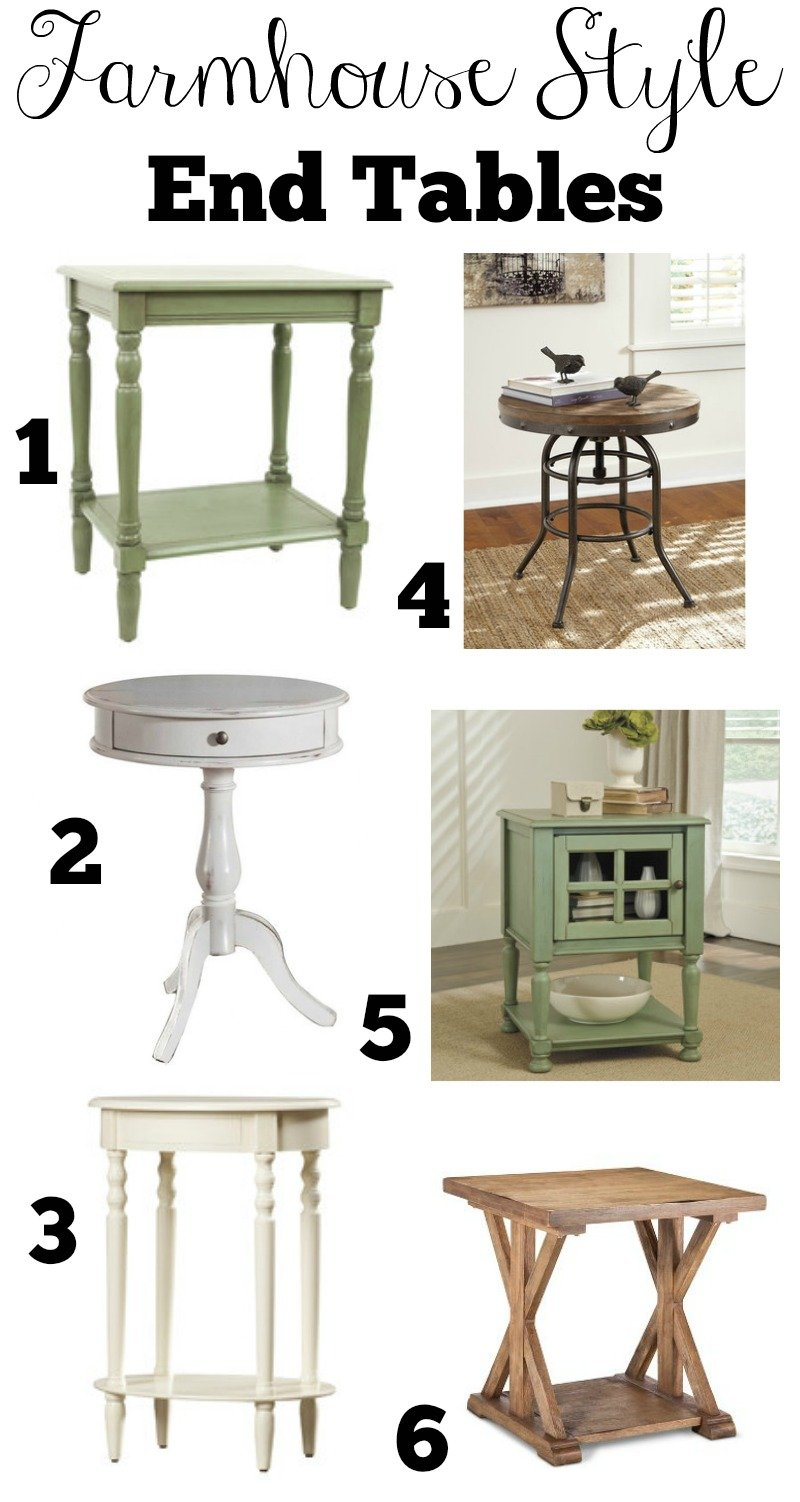 Affordable Farmhouse Style End Tables