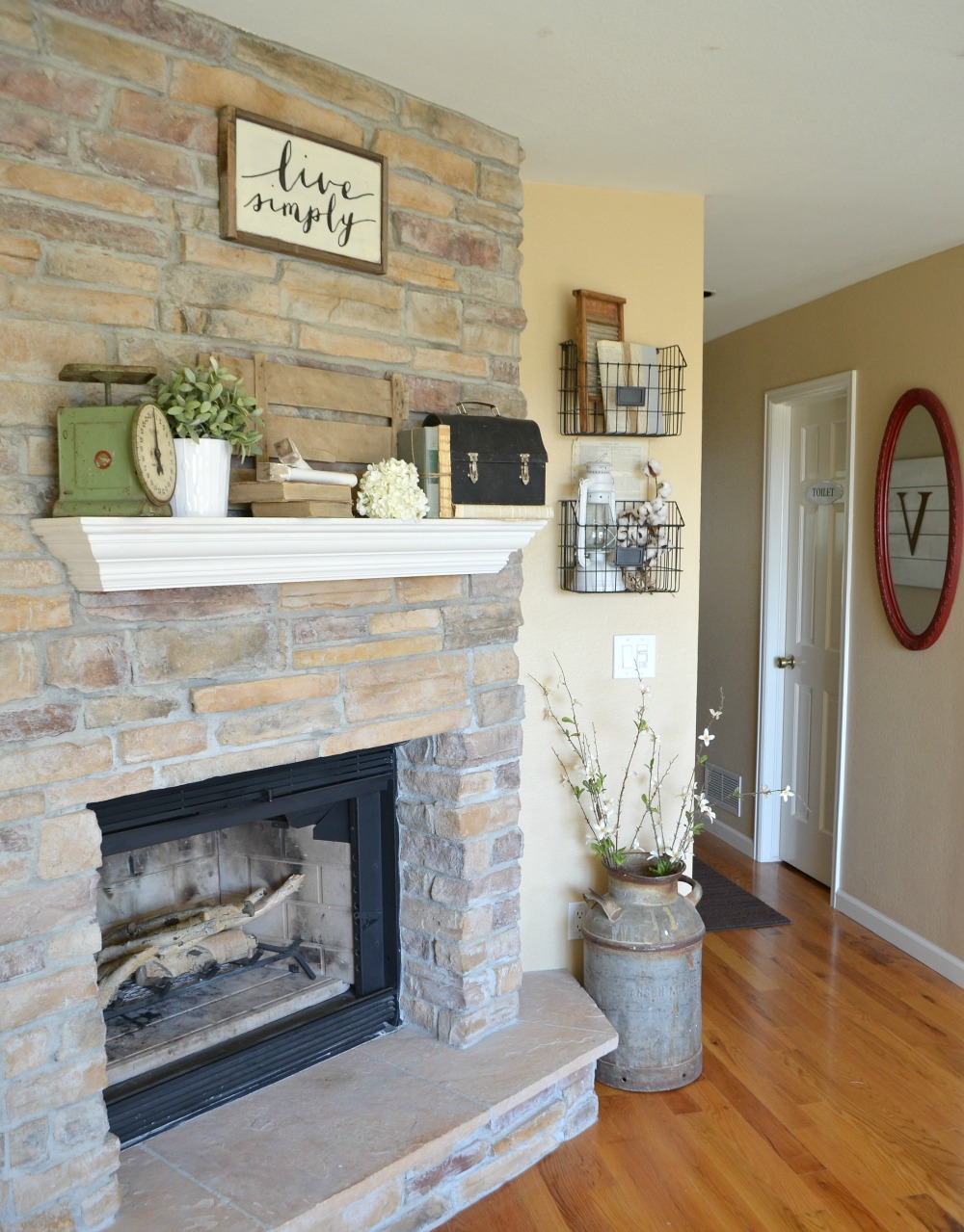 4 Tips for Decorating the Mantel--Vintage Decor