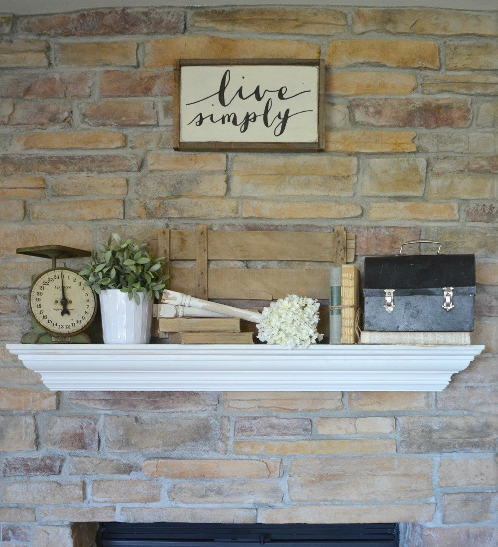 4 Tips for Decorating the Mantel--Vintage and Farmhouse Decor