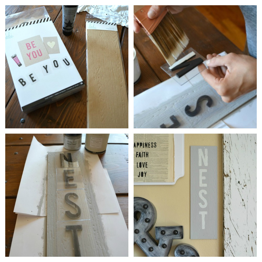 Making Nest Sign for Gallery Wall with Heidi Swapp products