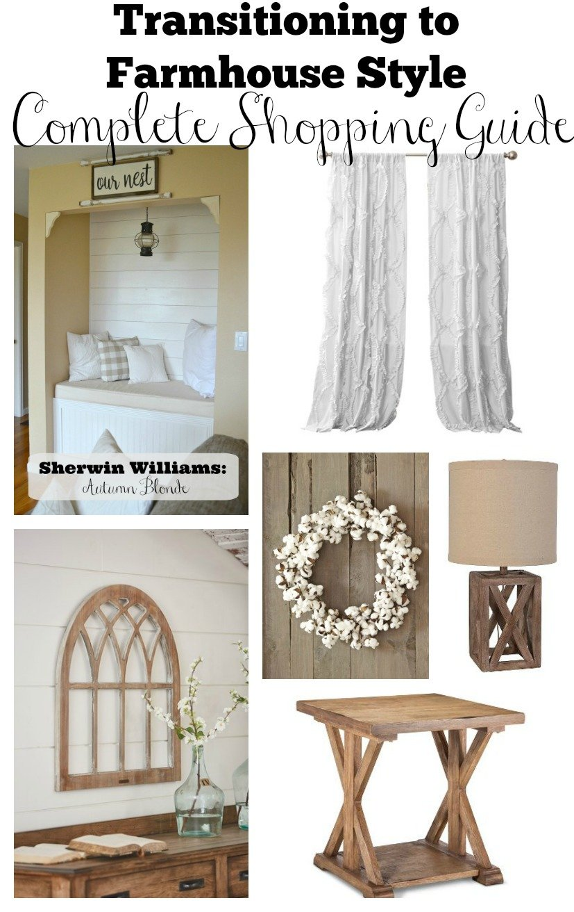 Transitioning to Farmhouse Style Complete Shopping Guide