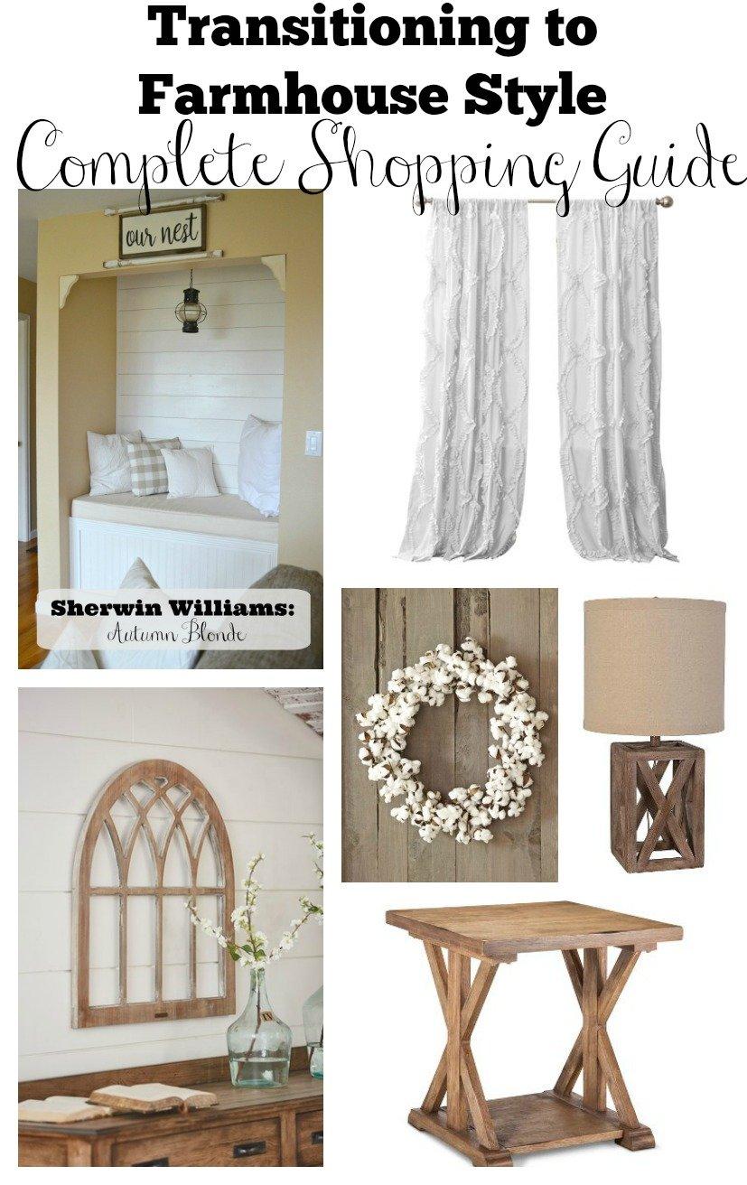 How I Transitioned to Farmhouse Style - Sarah Joy Blog