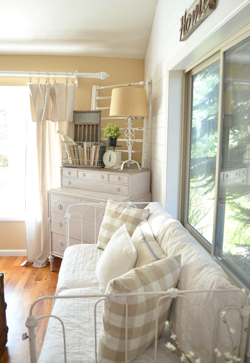 Vintage Farmhouse Style Old Crib Turned Couch