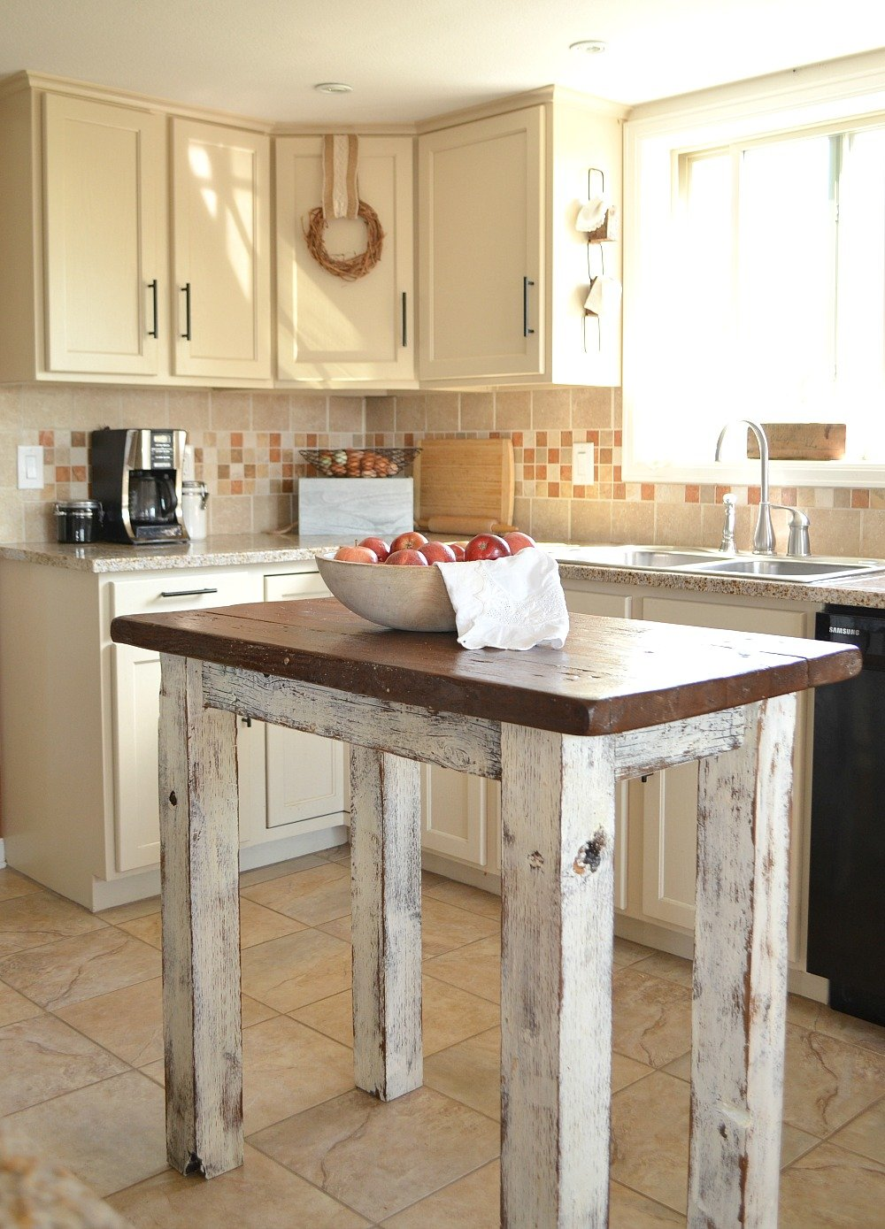 Farmhouse Kitchen and Rustic Island
