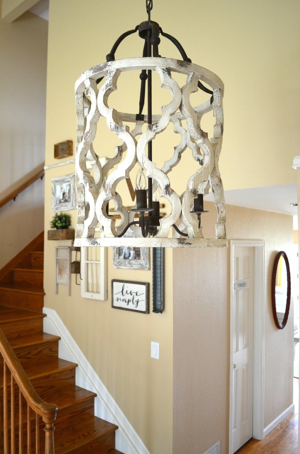 The Prettiest Farmhouse Chandelier