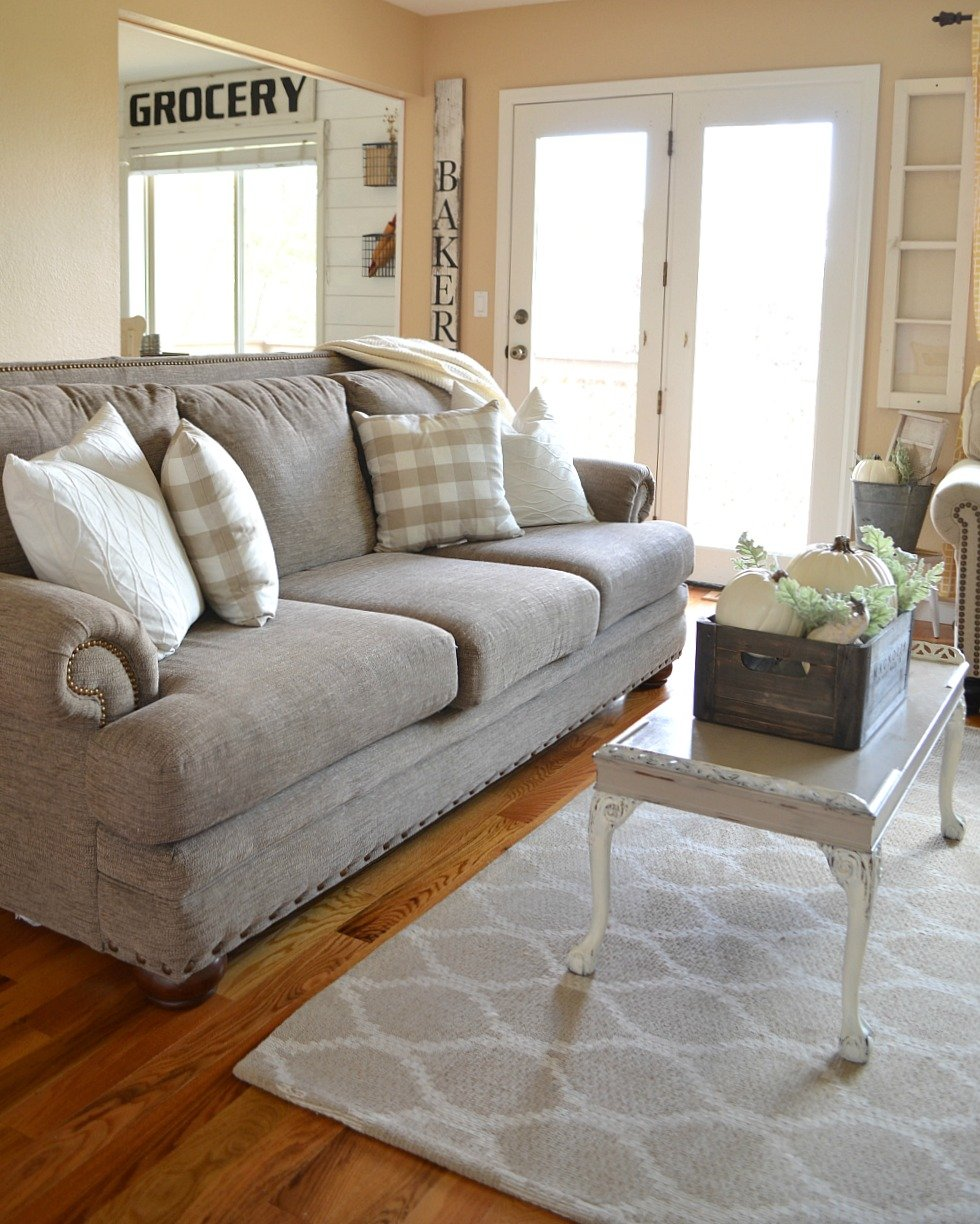 Cozy Farmhouse Fall Living Room Tour