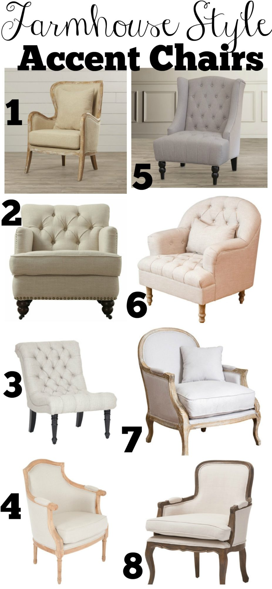 Affordable Farmhouse Style Accent Chairs