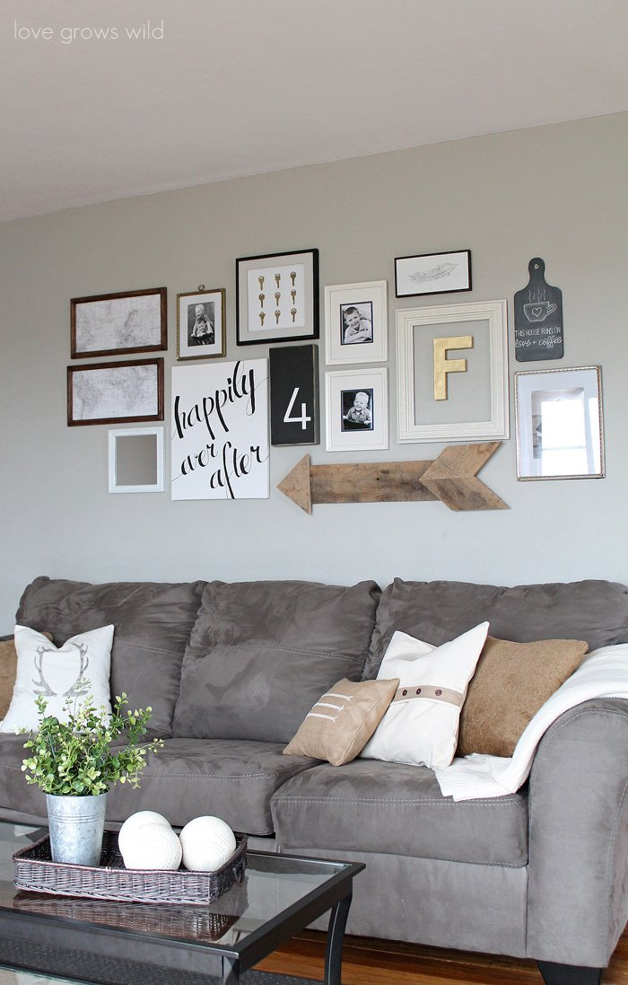 Creative Ways to Decorate Above the Sofa - Sarah Joy