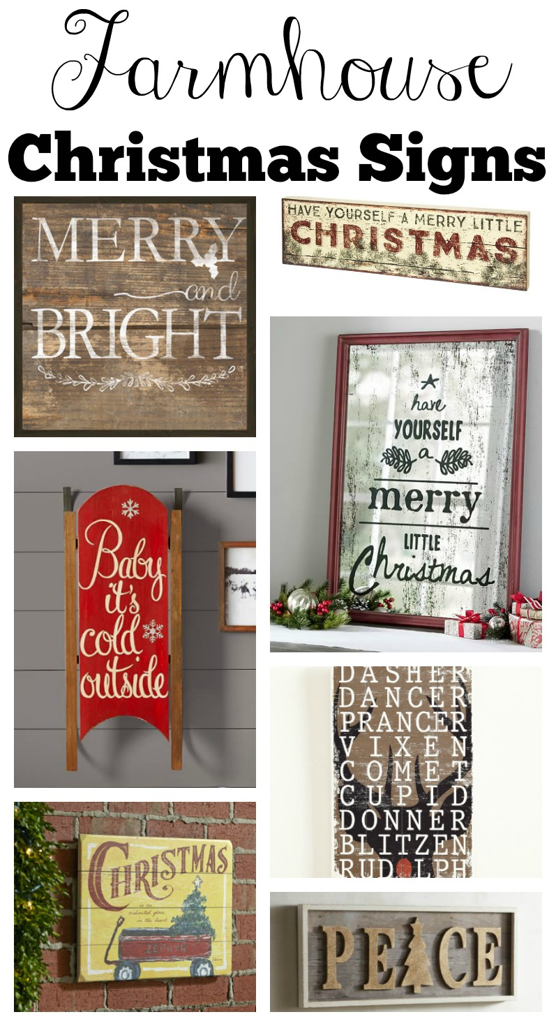 Farmhouse Style Christmas Signs