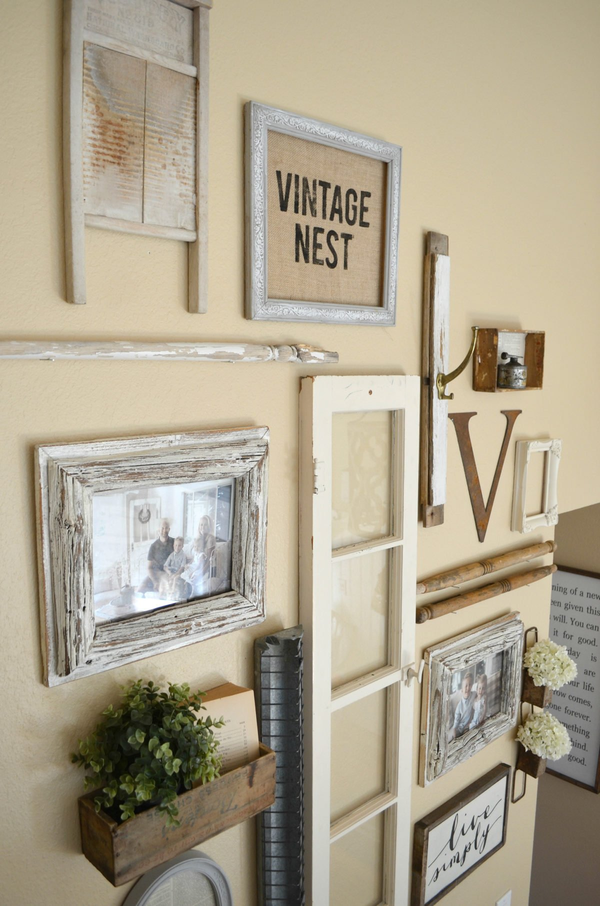 Vintage Inspired Staircase Gallery Wall