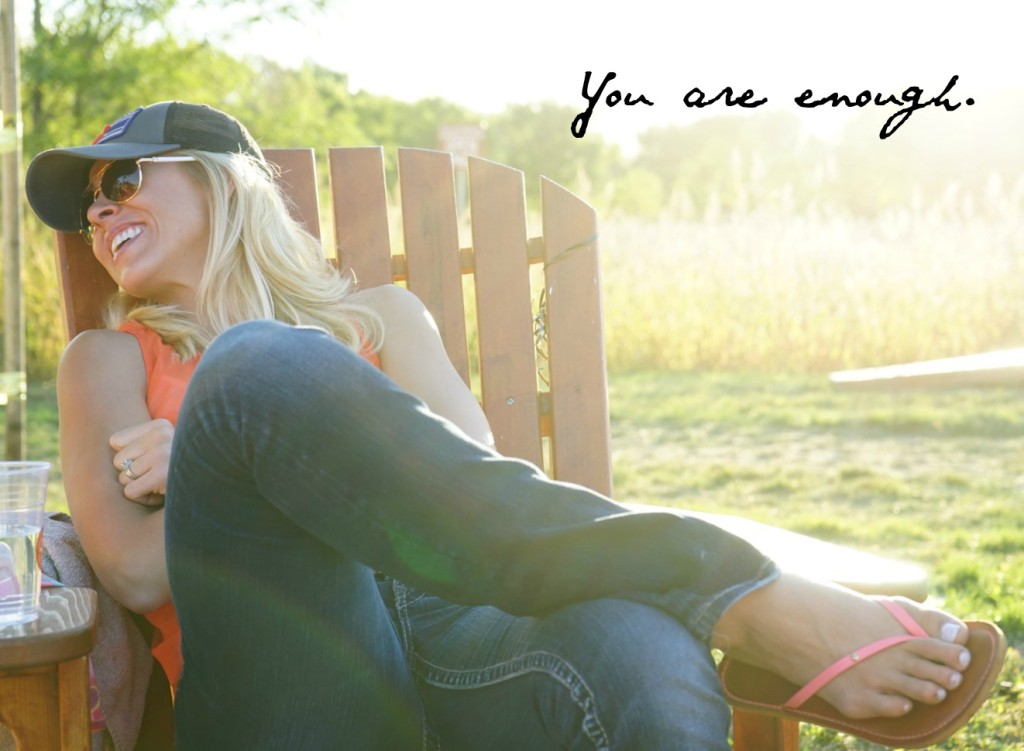 No more comparison and self doubt. You are enough.