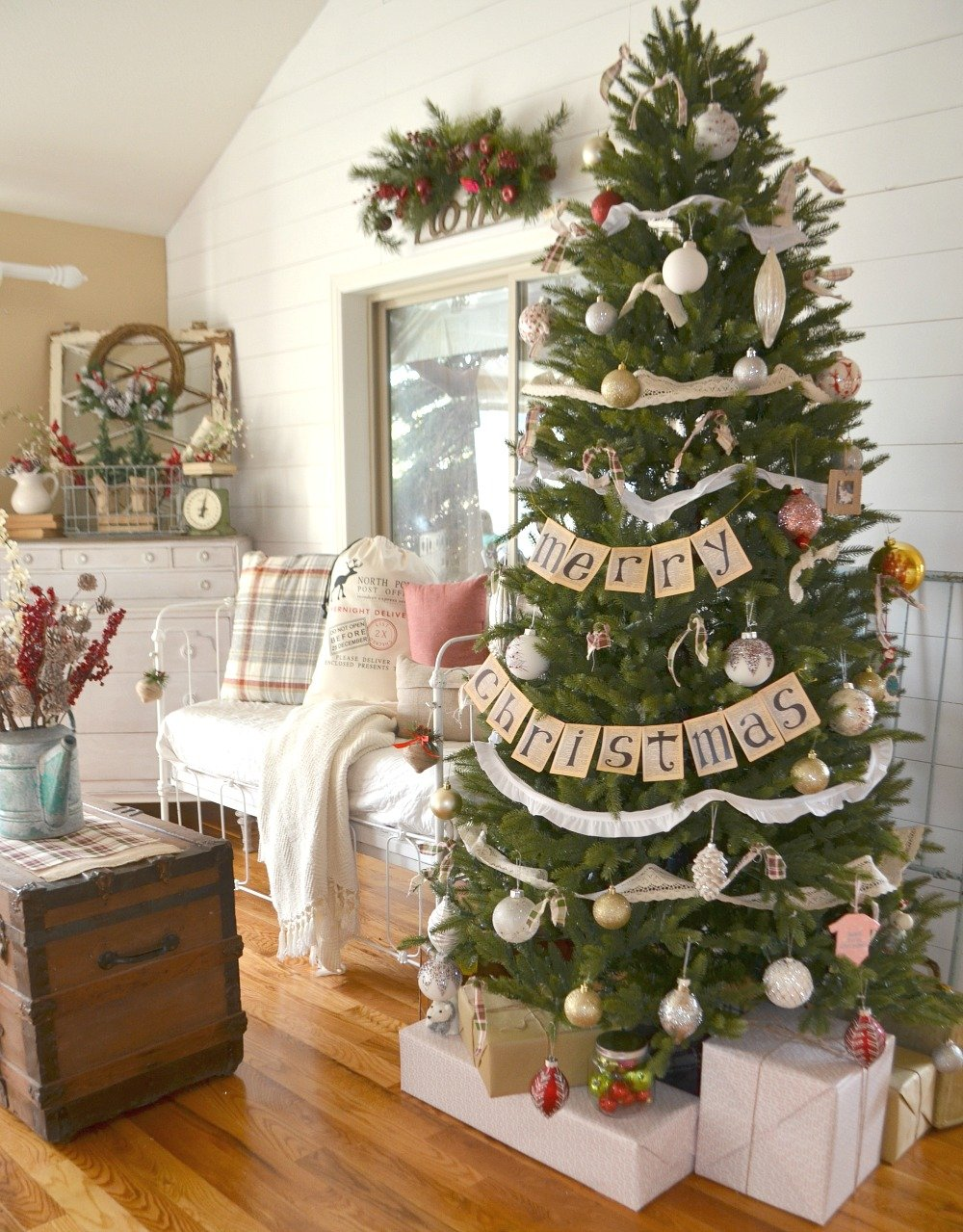 Vintage Farmhouse Christmas Tree Sarah Joy
