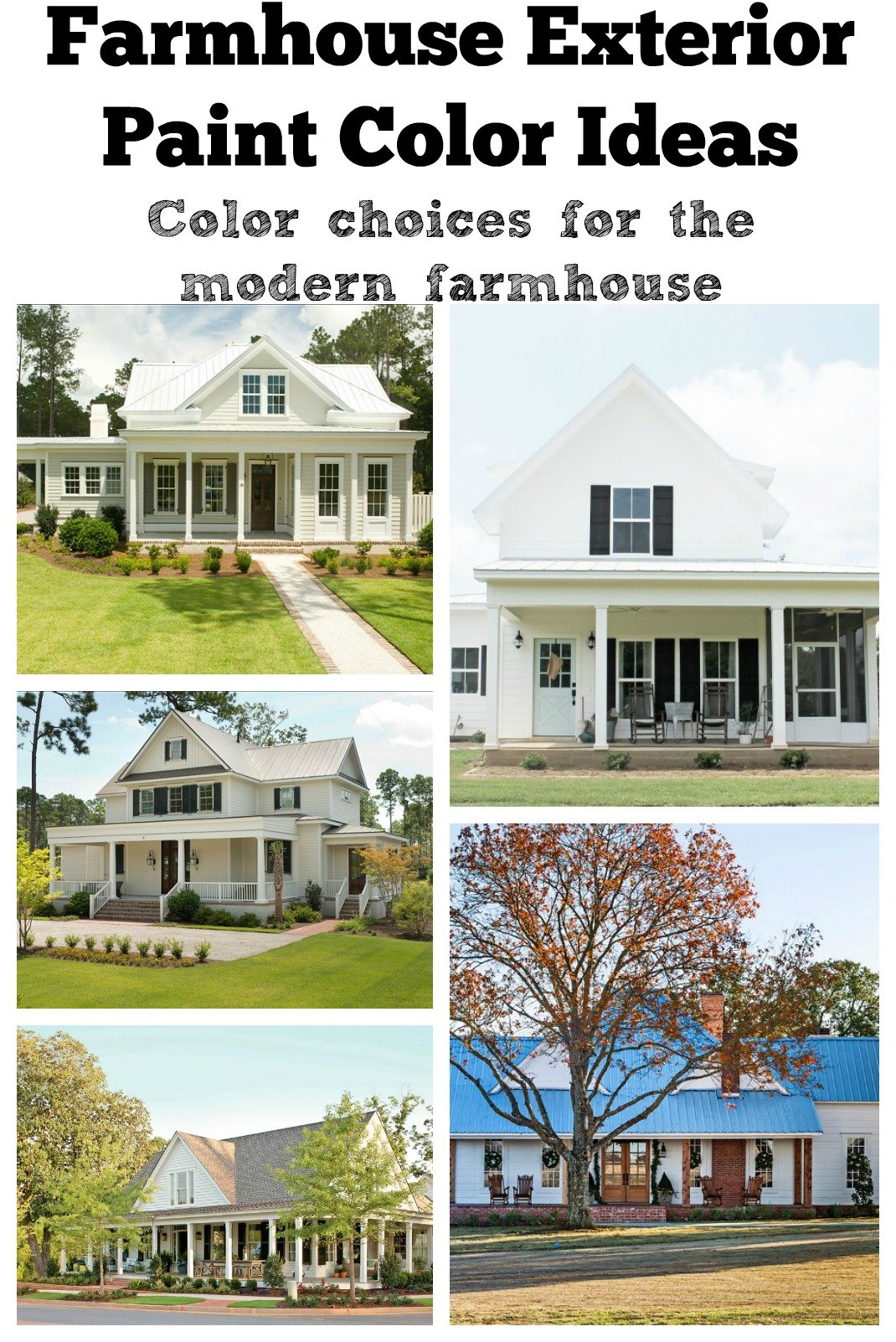 Farmhouse Exterior Paint Color Ideas Exterior Color Choices For The Modern Farmhouse Sarah Joy