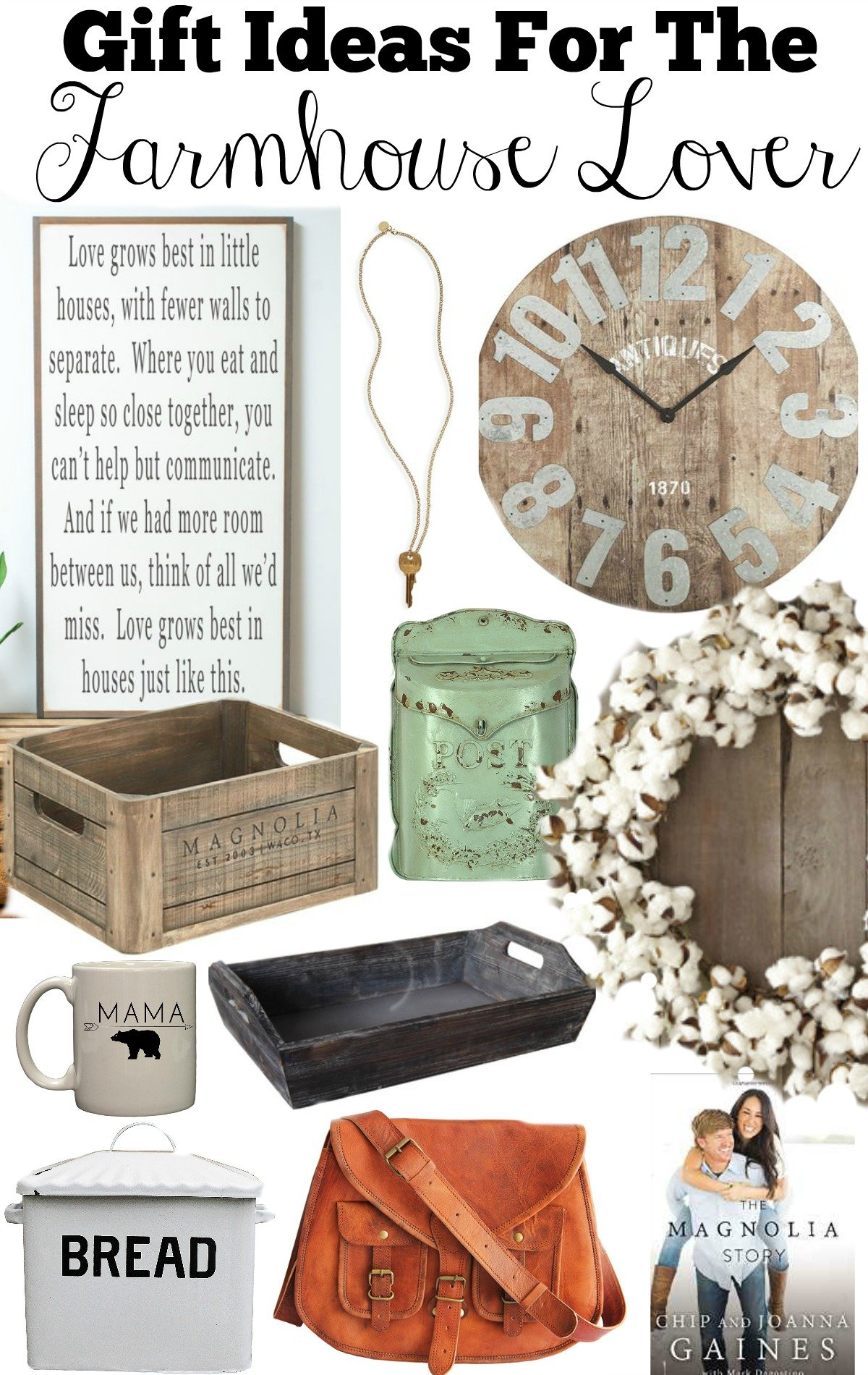 Farmhouse Style Gift Idea. Gift Ideas for the Farmhouse Lovers. Holiday gift guide farmhouse decor.