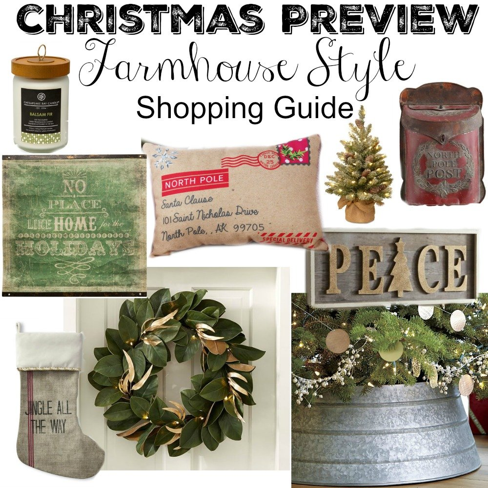 Farmhouse Style Christmas Decor Guide