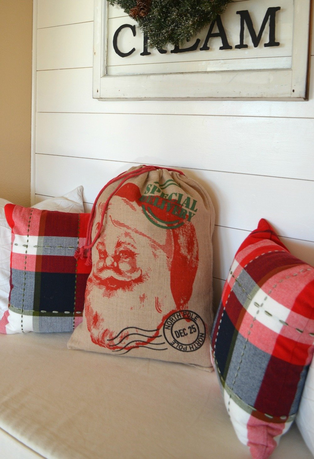 The Easiest DIY Christmas Pillow Ever