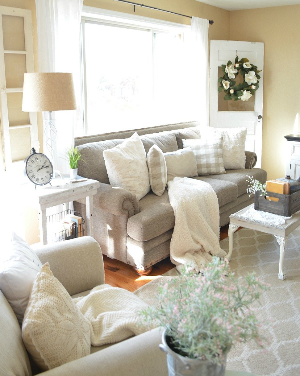 Refreshed Modern Farmhouse Living Room
