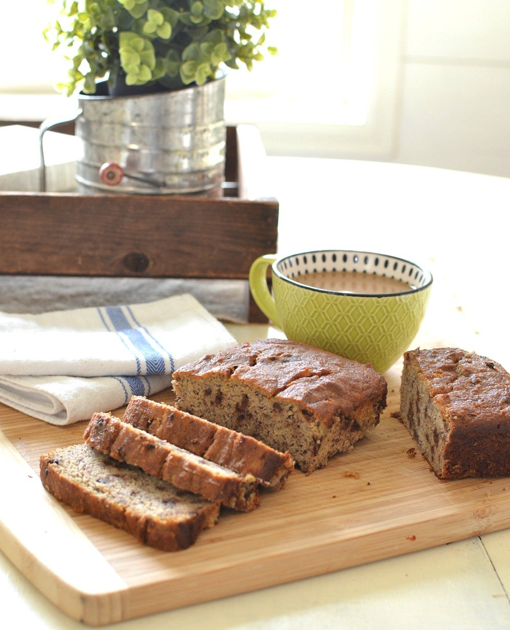 The Very Best Gluten Free Chocolate Chip Banana Bread