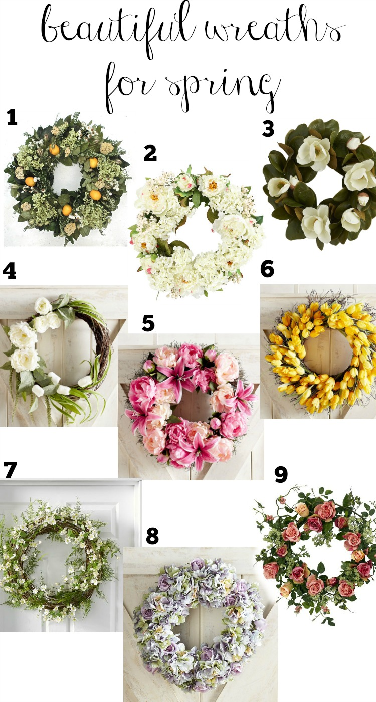 Beautiful wreaths for spring that are sure to brighten your home this season.