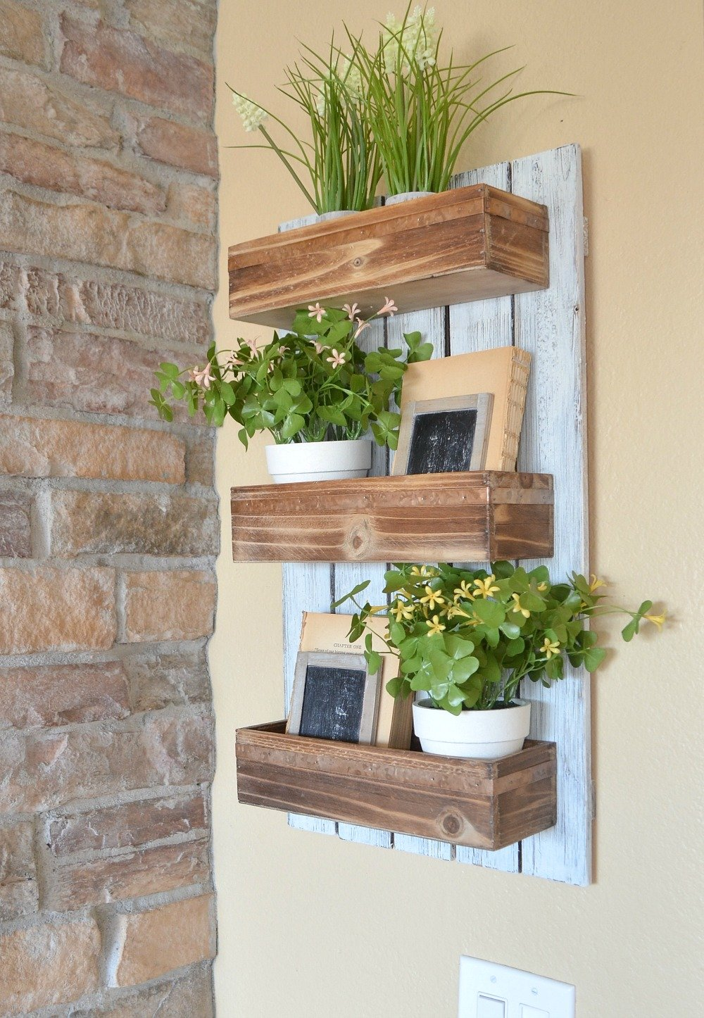 Diy Wooden Wall Planter Sarah Joy