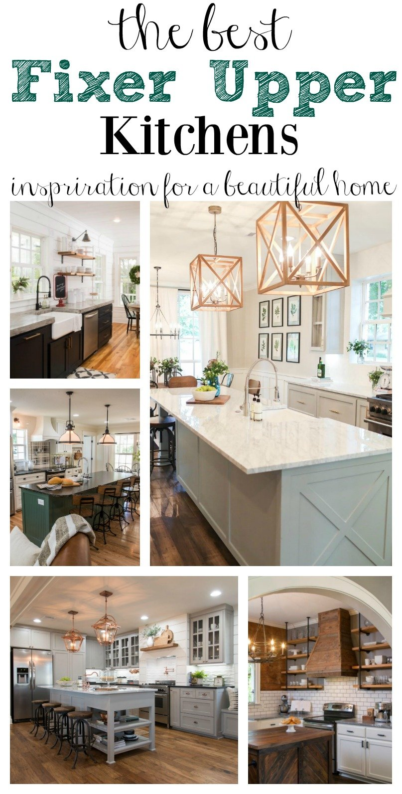 Need kitchen inspiration? Check out Joanna Gaines best kitchens from Fixer Upper. And see the products to help you create the look in your own home.