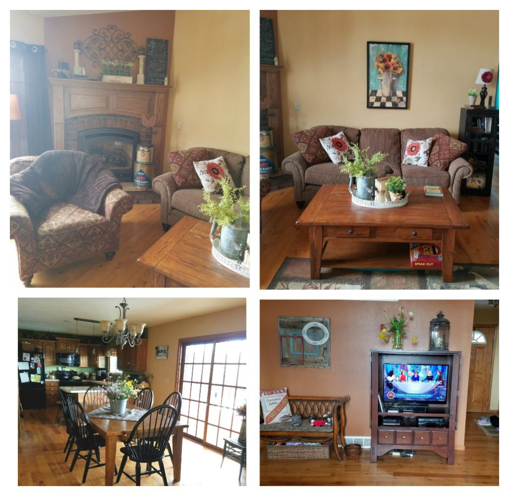 Farmhouse Rehab: See how this outdated living room is given a complete farmhouse style refresh for spring!