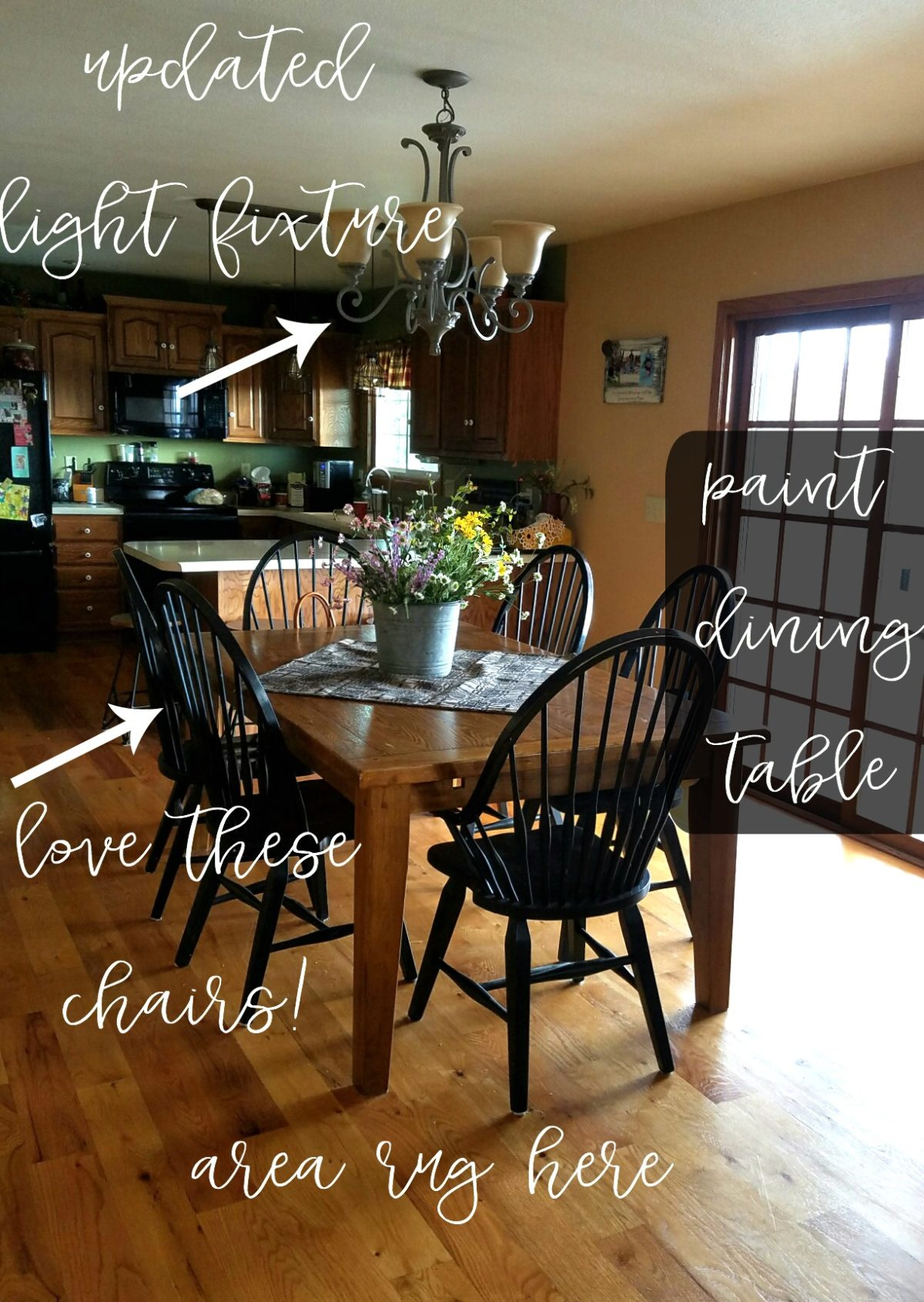 Farmhouse Rehab: See how this outdated dining room is given a complete farmhouse style refresh for spring!