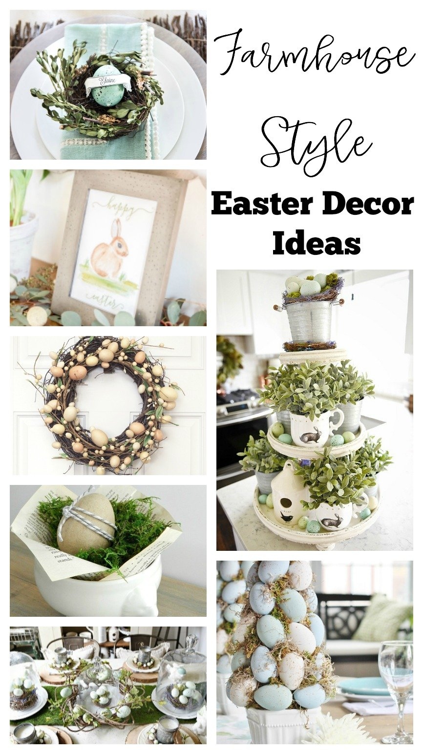 15 Farmhouse Style Easter Decor Ideas.
